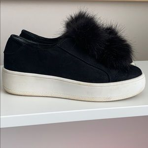 Shoes with pompons